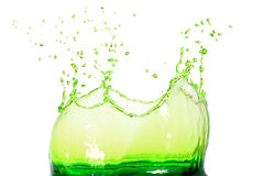 πράσινο ύδωρ παφλασμών στοκ εικόνα