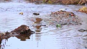πράσινο ύδωρ ρύπανσης σημειώσεων ξηρά καταστροφή φυσική Ταϊλάνδη κλίματος φύση στον κίνδυνο Μολυσμένο περιβάλλον φιλμ μικρού μήκους
