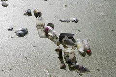 πράσινο ύδωρ ρύπανσης σημειώσεων Στοκ Φωτογραφίες