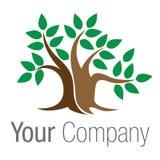 πράσινο δέντρο λογότυπων μ&p Στοκ εικόνα με δικαίωμα ελεύθερης χρήσης
