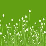 Πράσινο BG με τους μίσχους ρυζιού απεικόνιση αποθεμάτων
