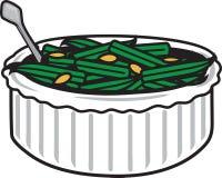 Πράσινο casserole φασολιών ελεύθερη απεικόνιση δικαιώματος