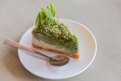 Πράσινο cheesecake τσαγιού Στοκ Εικόνα