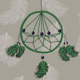 Πράσινο Dreamcatcher Στοκ φωτογραφία με δικαίωμα ελεύθερης χρήσης