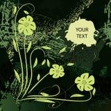 πράσινο grunge χρώματος εμβλημά&tau διανυσματική απεικόνιση