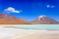 Πράσινο Laguna Verde, Βολιβία Στοκ Εικόνα