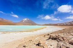 Πράσινο Laguna Verde, Βολιβία Στοκ Φωτογραφίες