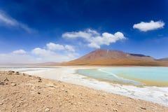 Πράσινο Laguna Verde, Βολιβία Στοκ Εικόνες