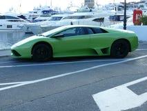 Πράσινο Lamborghini σε Puerto Banus Στοκ εικόνα με δικαίωμα ελεύθερης χρήσης