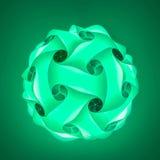Πράσινο lampshade Aqua Στοκ φωτογραφίες με δικαίωμα ελεύθερης χρήσης