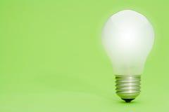 πράσινο lightbulb Στοκ Εικόνα