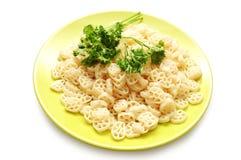 πράσινο macaroni πιάτο μαϊντανού Στοκ Εικόνα
