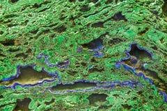 Πράσινο malachite μετάλλευμα Στοκ Εικόνες