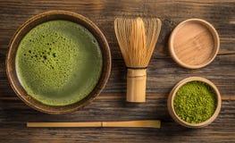 Πράσινο matcha τσαγιού στοκ φωτογραφία με δικαίωμα ελεύθερης χρήσης