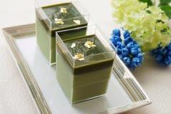 Πράσινο mousse τσαγιού Matcha Στοκ φωτογραφία με δικαίωμα ελεύθερης χρήσης