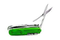 πράσινο penknife Ελβετός Στοκ εικόνα με δικαίωμα ελεύθερης χρήσης