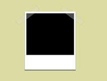 πράσινο polaroid ανασκόπησης Στοκ φωτογραφία με δικαίωμα ελεύθερης χρήσης