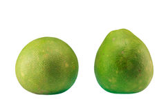Πράσινο pomelo εσπεριδοειδές που απομονώνεται στο άσπρο υπόβαθρο Στοκ Εικόνες