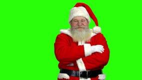 πράσινο santa Claus ανασκόπησης φιλμ μικρού μήκους