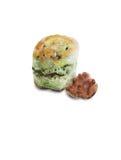 Πράσινο scone τσαγιού Στοκ Εικόνες