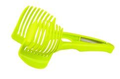 Πράσινο slicer ντοματών στοκ εικόνα με δικαίωμα ελεύθερης χρήσης