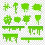 Πράσινο slime σύνολο Στοκ εικόνα με δικαίωμα ελεύθερης χρήσης