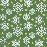 πράσινο snowflake προτύπων Στοκ φωτογραφία με δικαίωμα ελεύθερης χρήσης