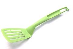 Πράσινο spatula κουζινών Στοκ εικόνα με δικαίωμα ελεύθερης χρήσης