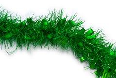 πράσινο tinsel Χριστουγέννων Στοκ φωτογραφίες με δικαίωμα ελεύθερης χρήσης