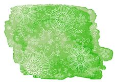 Πράσινο watercolor σταγόνων Στοκ φωτογραφία με δικαίωμα ελεύθερης χρήσης