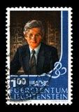 Πρίγκηπας Hans Adam, έκθεση LIBA γραμματοσήμων serie, circa 1982 στοκ φωτογραφίες με δικαίωμα ελεύθερης χρήσης