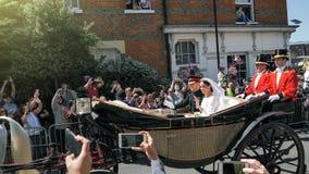 Πρίγκηπας Harry, δούκας του Σάσσεξ και Meghan, δούκισσα της άδειας του Σάσσεξ Στοκ φωτογραφία με δικαίωμα ελεύθερης χρήσης