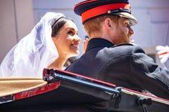 Πρίγκηπας Harry και γάμος της Meghan Markle Στοκ Εικόνες