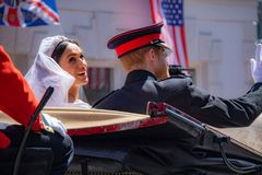 Πρίγκηπας Harry και γάμος της Meghan Markle Στοκ Φωτογραφία