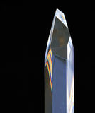 Πρίσμα κρυστάλλου γυαλιού στοκ φωτογραφία με δικαίωμα ελεύθερης χρήσης