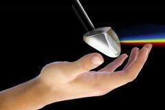 πρίσμα χεριών στοκ φωτογραφία