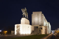 ΠΡΑΓΑ, ΔΗΜΟΚΡΑΤΊΑ ΤΗΣ ΤΣΕΧΊΑΣ - 21 ΔΕΚΕΜΒΡΊΟΥ 2015: Φωτογραφία του ιππικού αγάλματος της Zizkaης του Ιαν. στο Hill Vitkov Στοκ Φωτογραφία