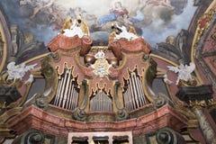 ΠΡΑΓΑ, ΔΗΜΟΚΡΑΤΊΑ ΤΗΣ ΤΣΕΧΊΑΣ - 12 Δεκεμβρίου: Clementinum, σκάσιμο καθρεφτών Στοκ φωτογραφίες με δικαίωμα ελεύθερης χρήσης