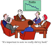 Πραγματικά προσπαθούμε σκληρά παρά τις πωλήσεις διανυσματική απεικόνιση