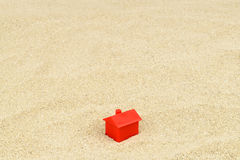 πραγματική άμμος σπιτιών κτημάτων έννοιας Στοκ Εικόνες