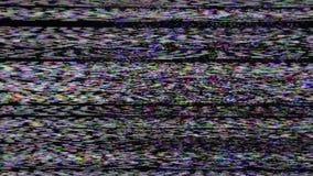 Πραγματική αναλογική TV Noize απόθεμα βίντεο