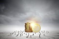 πραγματική αντανάκλαση χρημάτων σπιτιών κτημάτων έννοιας Στοκ φωτογραφία με δικαίωμα ελεύθερης χρήσης