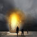 πραγματική αντανάκλαση χρημάτων σπιτιών κτημάτων έννοιας Στοκ Φωτογραφίες