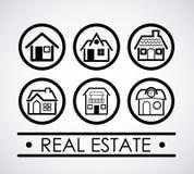 πραγματική πώληση βασικών σπιτιών κτημάτων σχεδίου Στοκ εικόνες με δικαίωμα ελεύθερης χρήσης