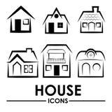 πραγματική πώληση βασικών σπιτιών κτημάτων σχεδίου Στοκ Εικόνα