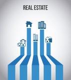 πραγματική πώληση βασικών σπιτιών κτημάτων σχεδίου απεικόνιση αποθεμάτων