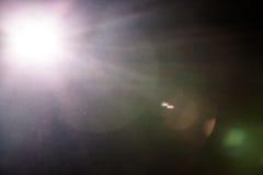 Πραγματική φλόγα φακών και σκονισμένη ατμόσφαιρα Στοκ Φωτογραφίες