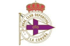 Πραγματική Club Deportivo de Λα Coruña Logo ελεύθερη απεικόνιση δικαιώματος
