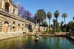 Πραγματικοί κήποι Alcazar, Σεβίλλη στοκ εικόνα