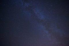 Πραγματικός νυχτερινός ουρανός με τα αστέρια Στοκ Εικόνα
